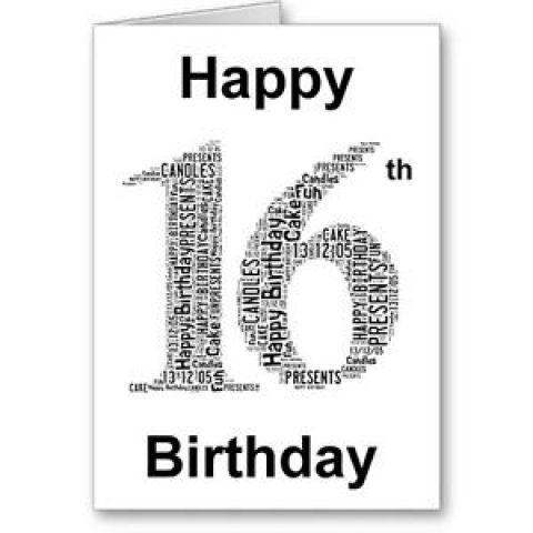 Happy Birthday! My Sweet 16